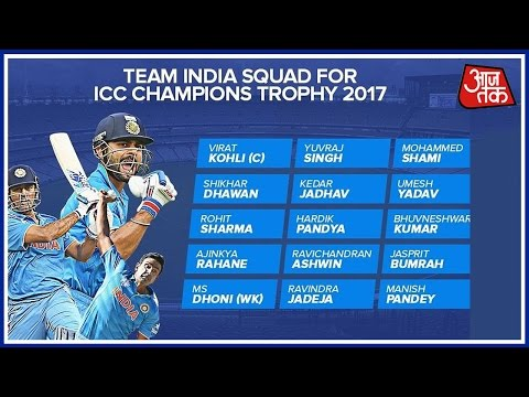 Champions Trophy: BCCI Announces 15-Man Squad; No Place For Raina,  Gambhir