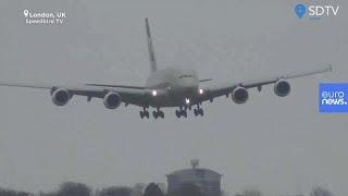 [Vídeo] Aterrizaje 'imposible' de un Airbus A380 de 394 toneladas por la tormenta Dennis