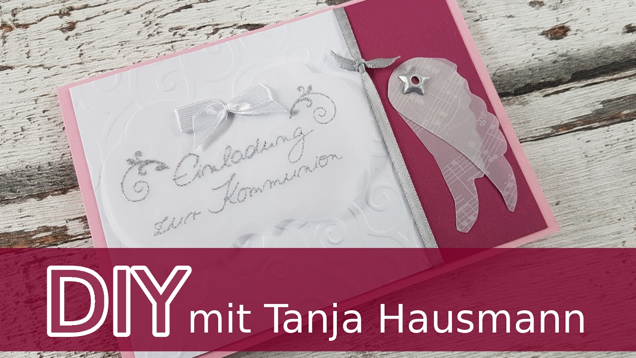 Karte zur kommunion taufe konfirmation basteln cardmaking deutsch youtube - Bastelideen zur taufe ...