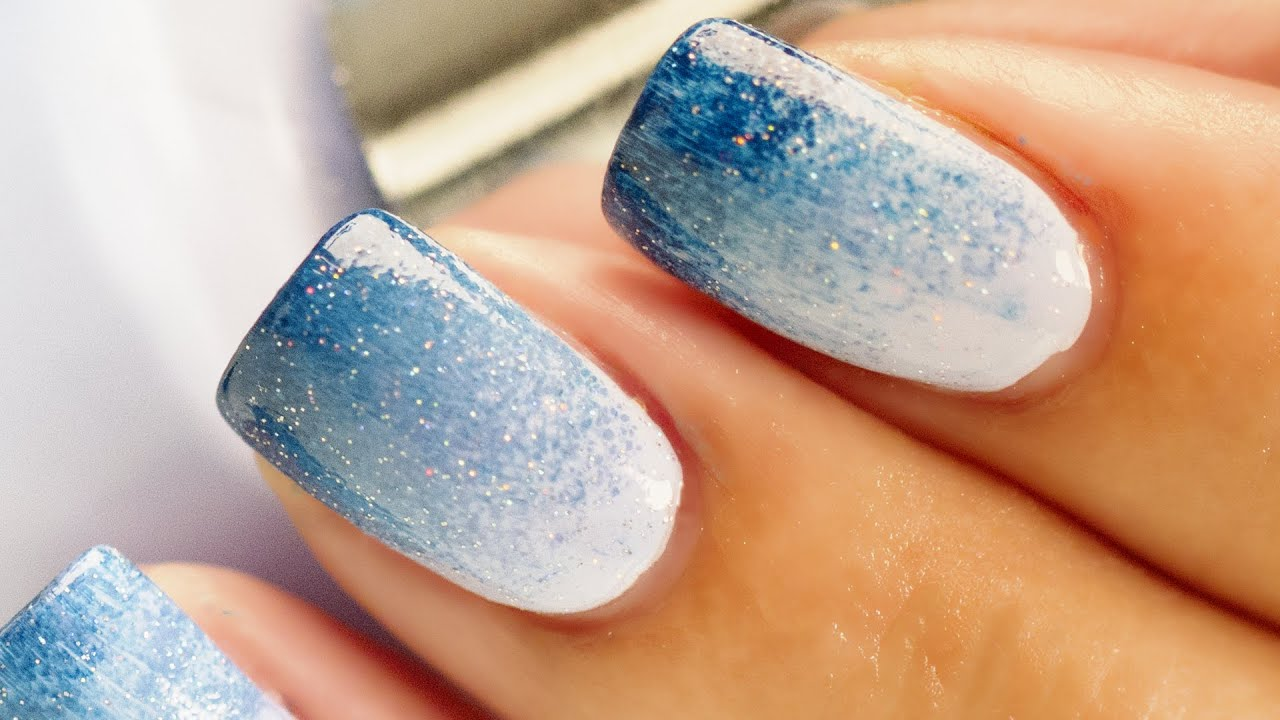 Ombre nail art youtube prinsesfo Images