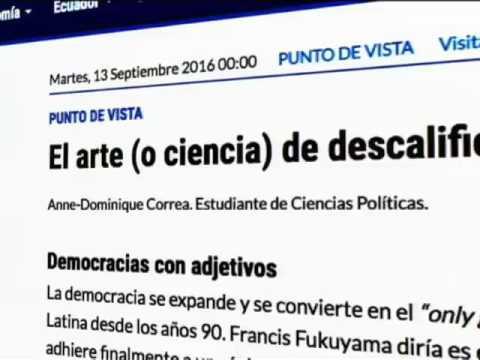 Presidente Correa publicó en su cuenta Twitter un artículo de su hija