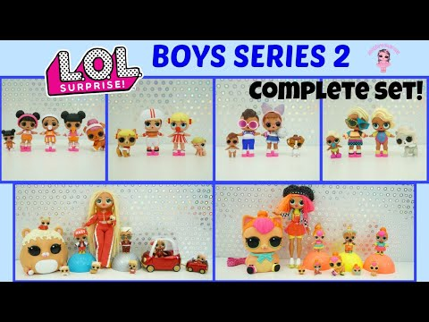 LOL Surprise Boys Series 2 Complete Set With Weight Hacks Kids LOL Dolls