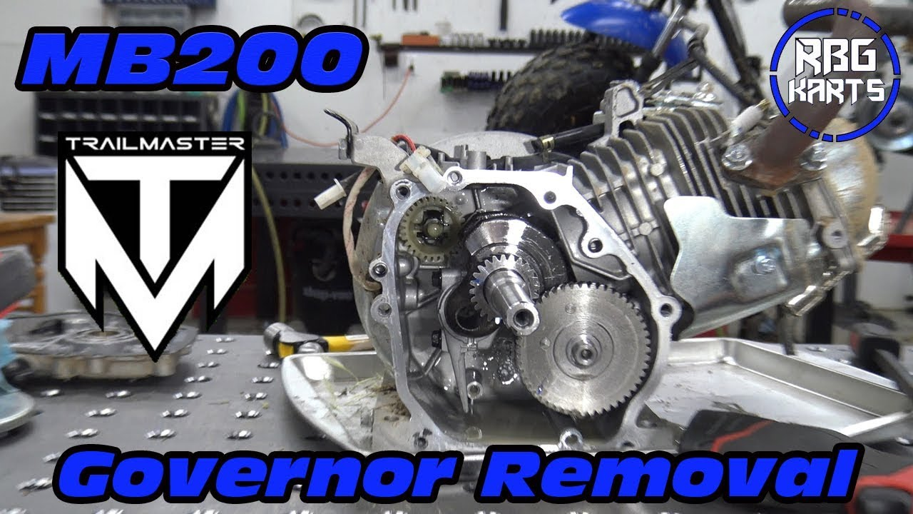 Trailmaster MB200 Governor Removal & Test - Red Beard's Garage