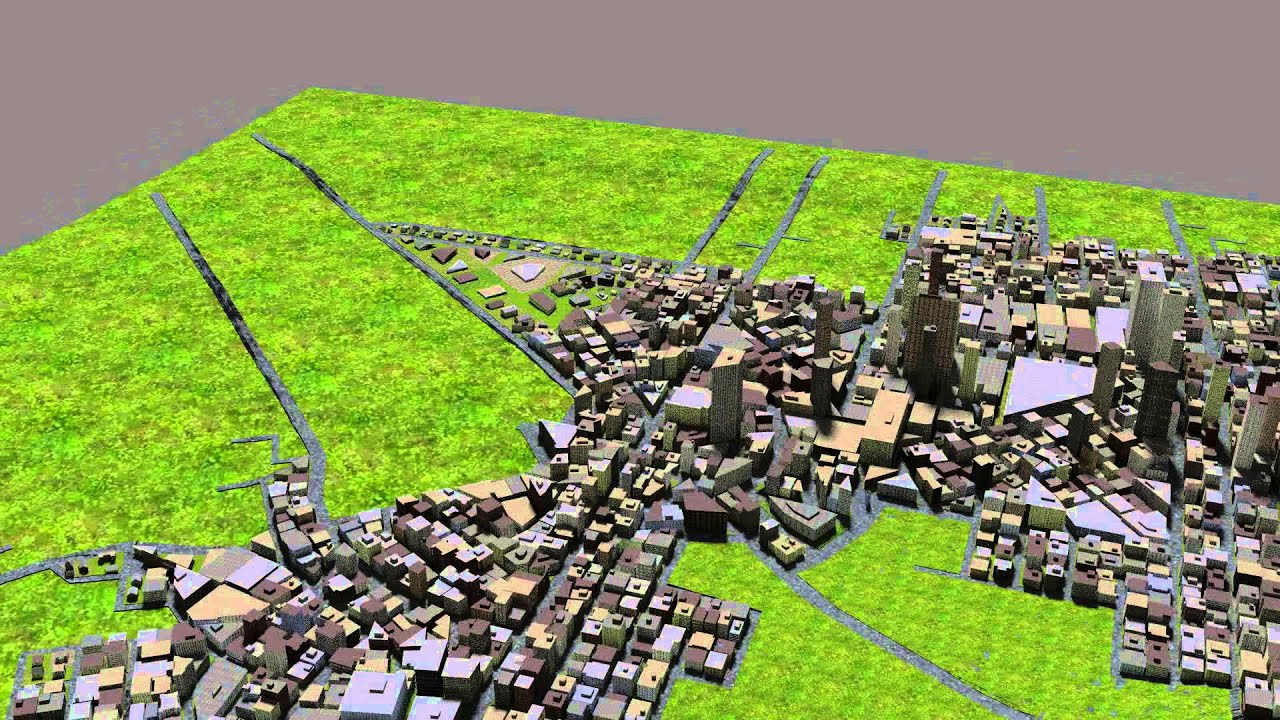 Procedural City Generation in Python and Blender