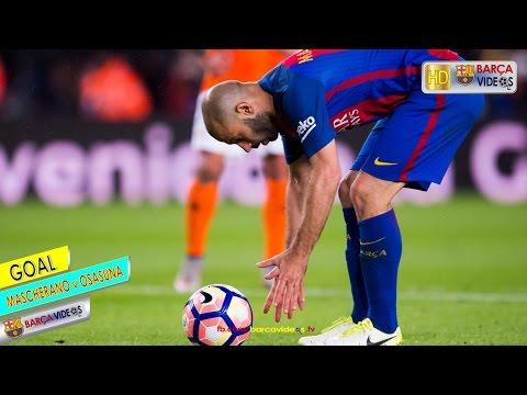 Mascherano's first ever Barca Goal (Apr 17)