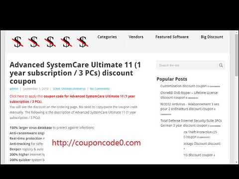 Advanced SystemCare Ultimate 11  Coupon Code