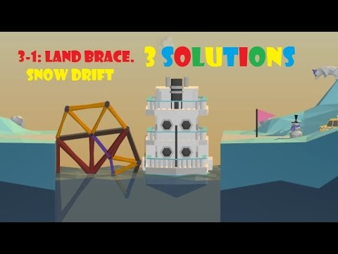 poly bridge 3 1 land bridge snow drift 3 solutions how to beat youtube. Black Bedroom Furniture Sets. Home Design Ideas