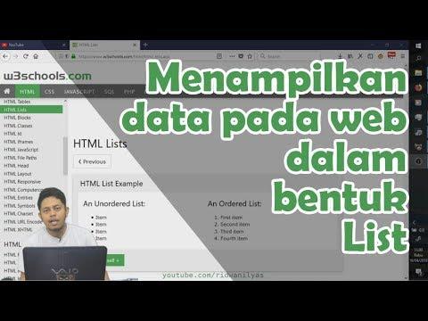 5.9 Menampilkan Data Pada Web Dalam Bentuk List | Belajar HTML