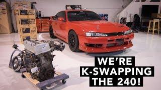 Honda Engine in a 240SX?! - Honda K-Swap 240SX
