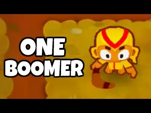 How Long Can You Survive With 1 Boomerang? (Bloons TD 6)