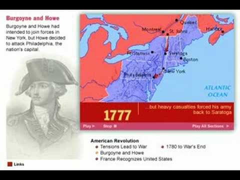 History of the American Revolution  1770s  Map