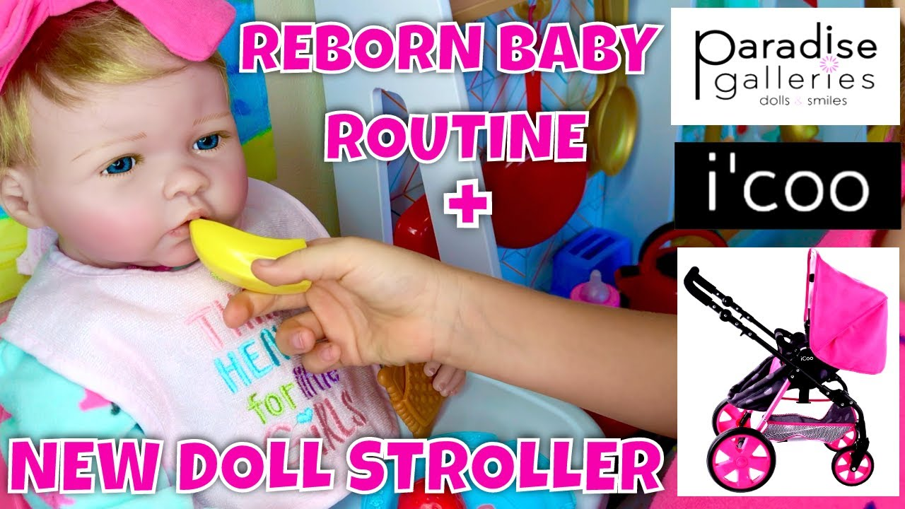 ☀️Reborn Baby Boll Morning Routine With Skye🍼 + Unboxing New iCoo Stroller! 💖