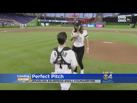 Trending: Marriage Proposal At Marlins Park