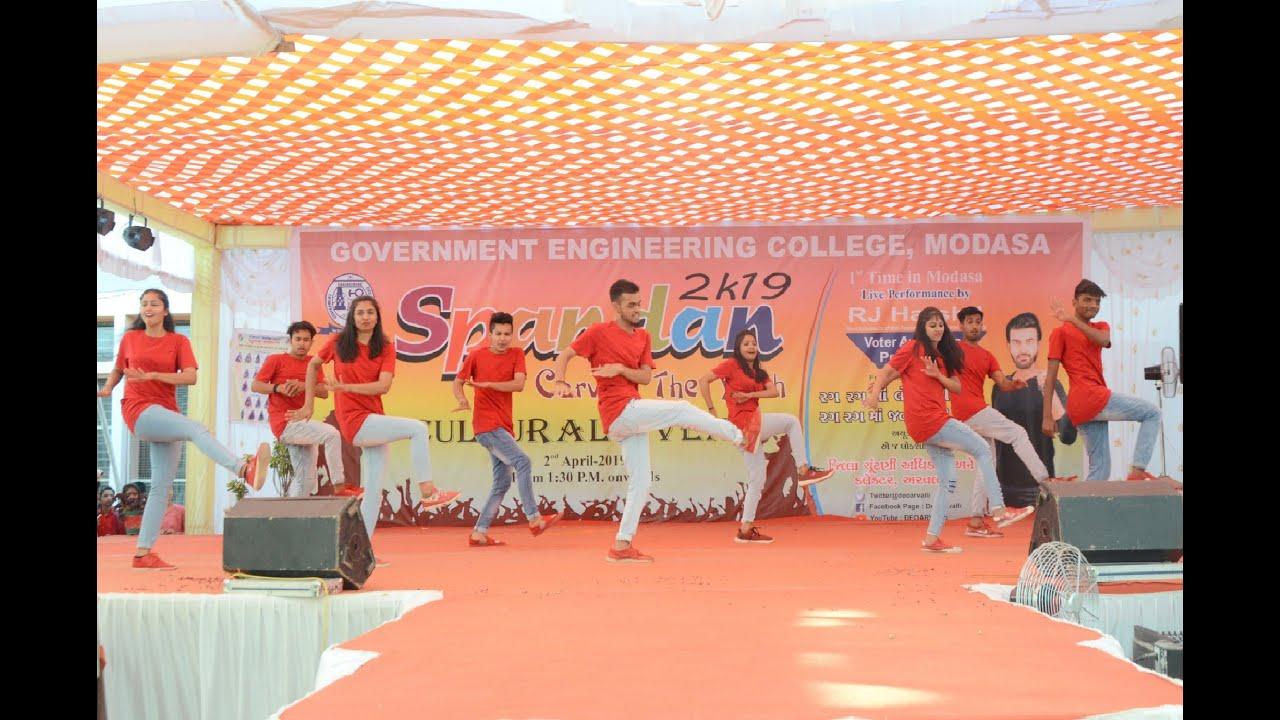 Spandan_2k19 GEC Modasa | Golmaal Title Track | Aankh Marey | Mi Gente | T Matrix Dance Crew