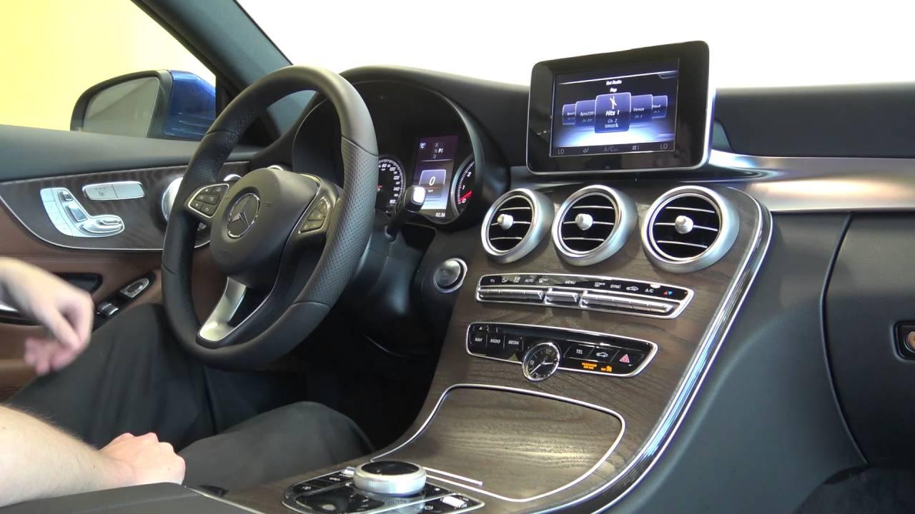 2017 Mercedes Benz C 300 C Class Coupe Interior Tech Features Youtube