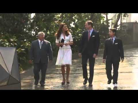 Prince William and Kate visit Singapore gardens