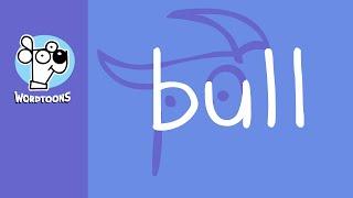 Draw The Word  Bull Into A Bull - Wordtoon Bull