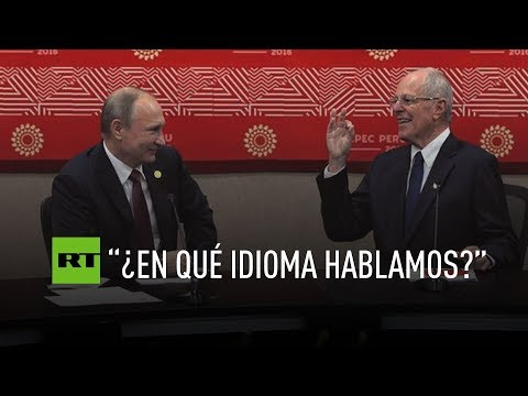 Putin y Kuczynski protagonizan un divertido diálogo
