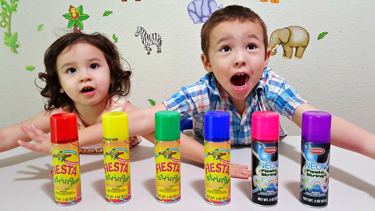 Colors for toddlers and babies - Learn Colors For Toddlers And Babies With Sillystring Kids Learning Colours With Fiesta String Toy