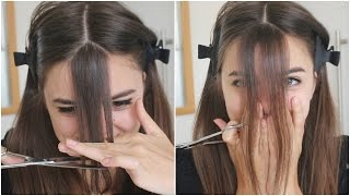 hOW TO: CUT YOUR HAIR - BANGS (10 SECONDS)