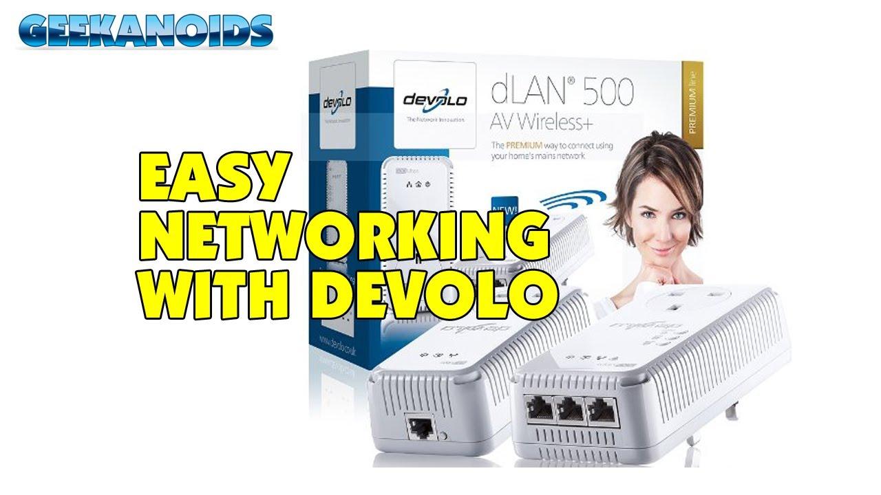 devolo dlan 500 av wireless homeplug network starter kit youtube. Black Bedroom Furniture Sets. Home Design Ideas