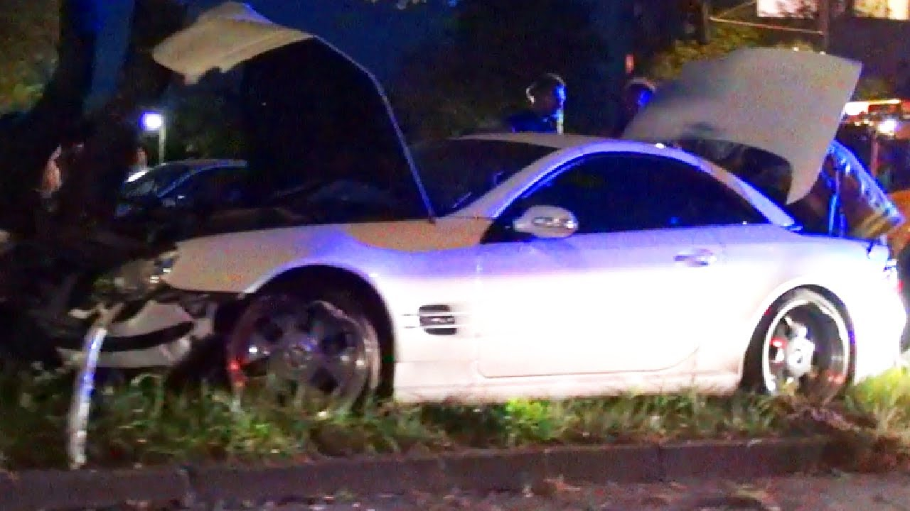 Mercedes Sl 500 Crash Unfall Accident Into A Tree R230