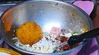 Crispy Rice Balls Salad (YAM NAEM KHAO TOD) - Thai Street Food