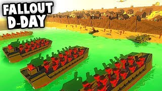 FALLOUT D-DAY! Toxic Invasion of Normandy! (Ancient Warfare 3 Gameplay)