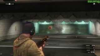 GTA 5 PC - Shooting Range - Rail Gun Bonus Challenges [Gold Medals]