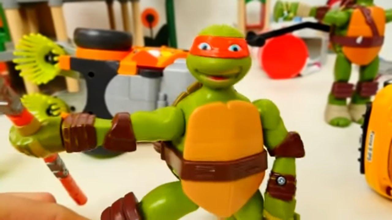 Игры Черепашки Ниндзя: Леонардо трансформер. Игрушки для ...