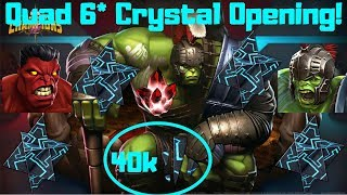 Opening All My 6* Shards! 6* Crystal x4! + 5* Crystal! - Marvel Contest Of Champions