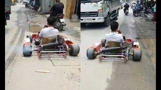 Đại gia chân đất mang Ferrari tự chế ra phố chạy thử, phi lên nhìn mặt lái xe mới ngã ngửa