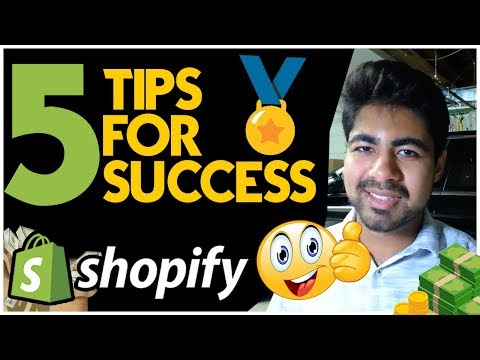 5 TIPS For EASY Success With Shopify Dropshipping (Beginners MUST Watch This) thumbnail