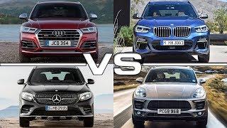 Audi SQ5 vs BMW X3 M40i vs Mercedes AMG GLC43 vs Porsche Macan Turbo