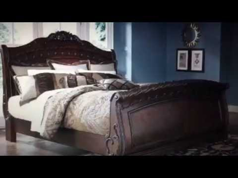shore bed homes sleigh bedroom sets set ashley ideas north king furniture opulent