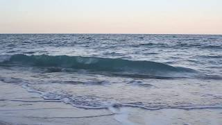 Relaxing 45 Min Video of Ocean Waves at Sunset, High Tide - Calm Sleep Meditation