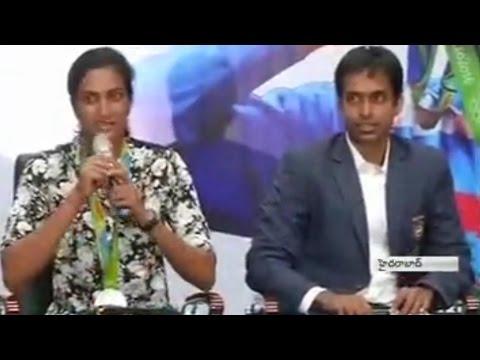 PV Sindhu Press Meet at Pullela Gopichand Academy - Watch Exclusive