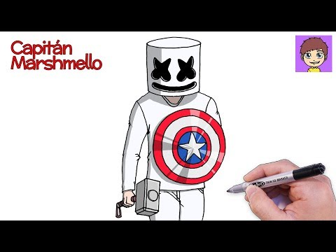 como-dibujar-a-capitán-marshmello-paso-a-paso---dibujos-para-dibujar-dibujos-faciles