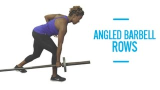 Angled Barbell Rows