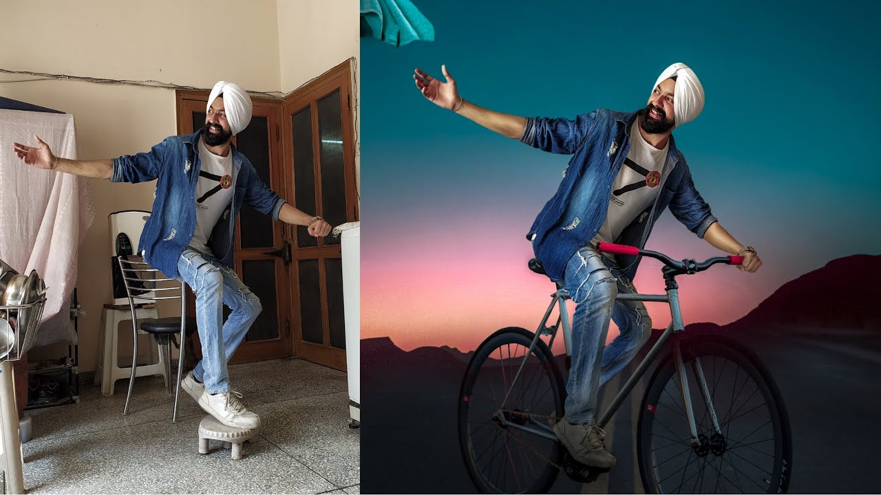 Cycle Concept | Photo Editing in Mobile Phone | हिंदी में