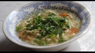 Суп домашняя лапша/ Тесто для лапши своими руками