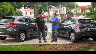 Honda HR-V vs Mazda 3 Skyactiv Hatchback - Roda Pusing Review