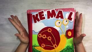 Esma ve Kemal kardeşlerin aktivite kitabı, quiet book, montessori kitabı, duyusal kitap, sensory toy