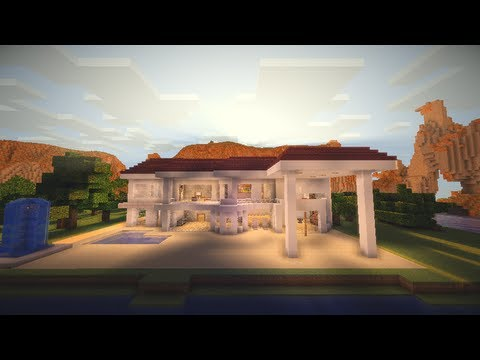 Minecraft casa moderna modern house descarga for Casa moderna y grande en minecraft