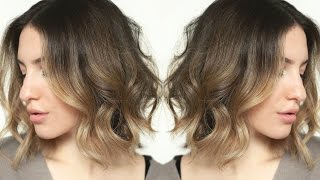 messy effortless waves short hair tutorial jamiepaigebeauty