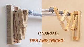 Woodworking Tips And Tricks    DIY, Easy Way To Make a Drying Clothes Rack on Walls like in IKEA