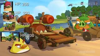 Angry Birds Go cinematic trailer with score, health point, and estimated speed