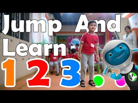 Teach kids to learn Numbers by jumping with Kaju | Number Line | Nayi Disha Games