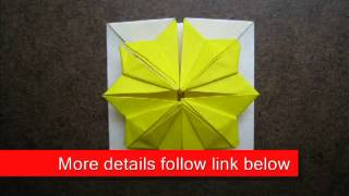 Paper Folding Origami Foldable Flower Box