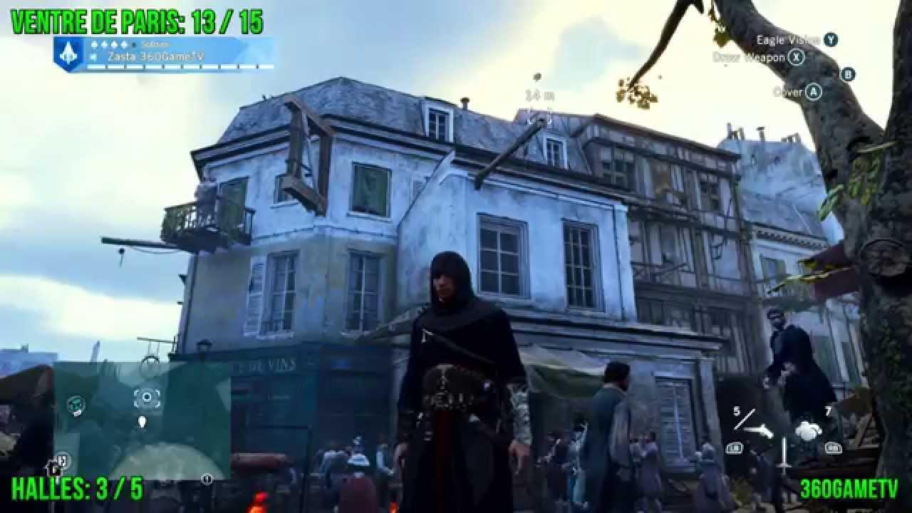 Assassins Creed Unity All Cockade Locations Ventre De Paris District Tricolore Guide Part 3 Youtube